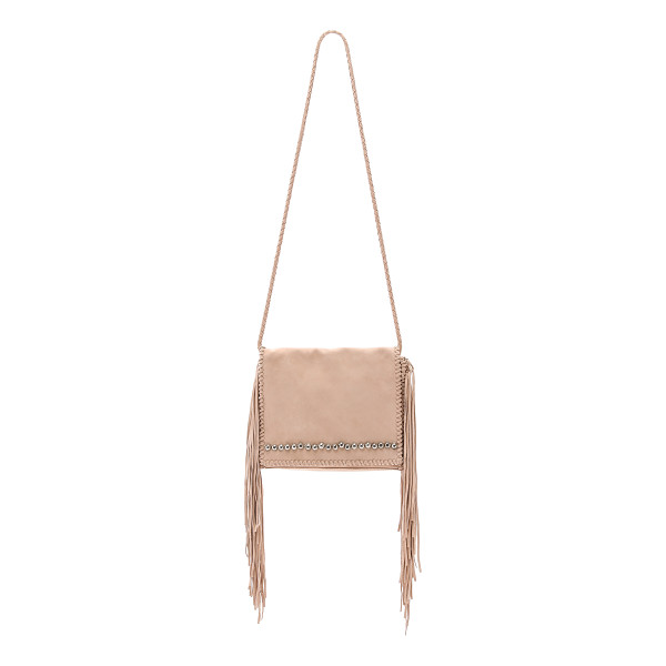 SIMONE CAMILLE Ade messenger bag - Whipstitch trim and heavy fringe hang from the sides of