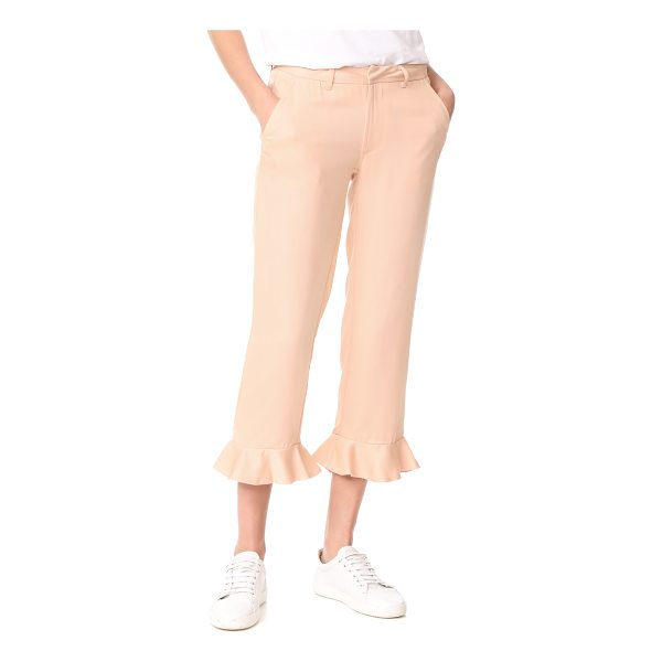 SINCERELY JULES ruffle trousers - These flirty Sincerely Jules cropped trousers are detailed...