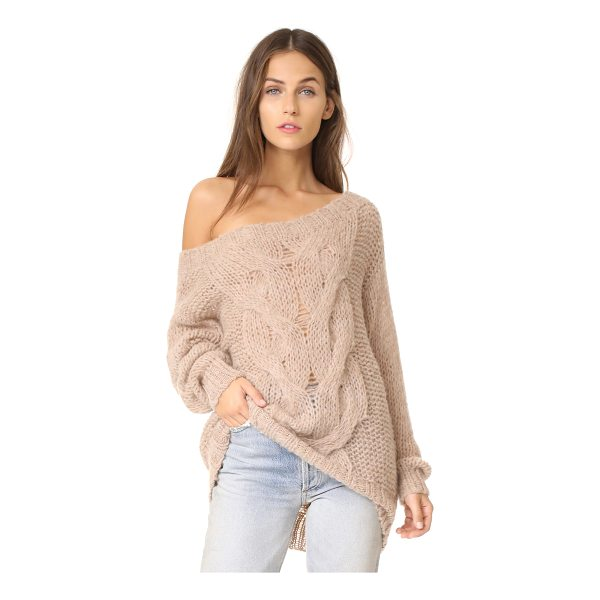 SKIN roselyn alpaca sweater - Open-knit lends an airy drape to this soft alpaca sweater....