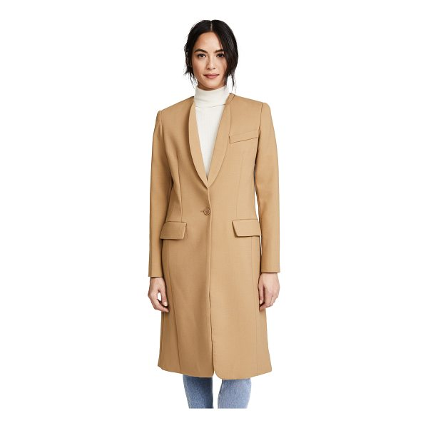 SMYTHE skinny lapel coat - Skinny lapels add a sophisticated look to this long SMYTHE...