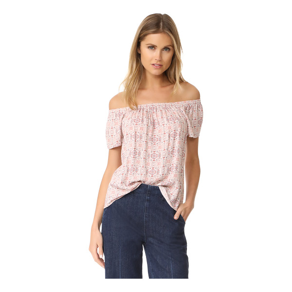 SOFT JOIE morallis top - A faded print lends a vintage-inspired touch to this...