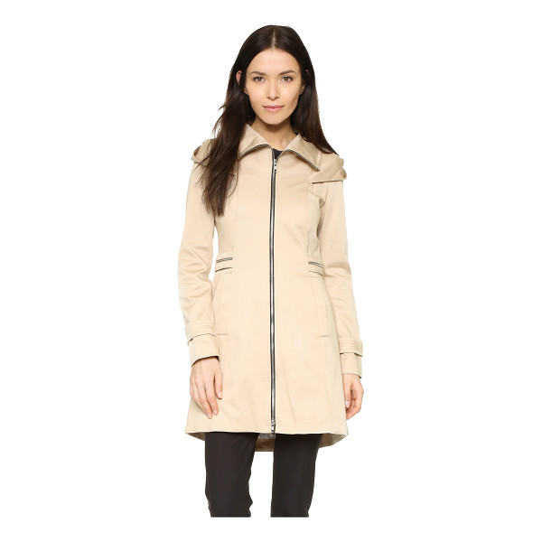 SOIA & KYO Maely coat - A high collar and oversized hood lend a rain ready appeal...