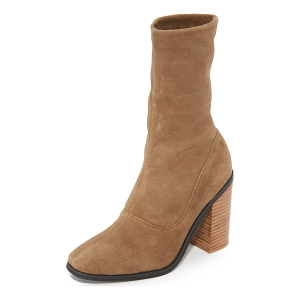 SOL SANA chloe stretch booties - Sophisticated Sol Sana booties in stretch, faux-suede....