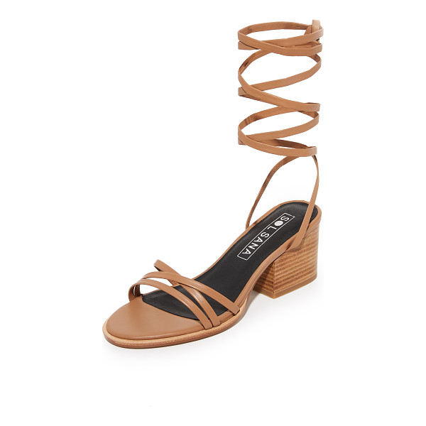 SOL SANA tabitha heel sandals - Delicate straps crisscross these leather Sol Sana sandals....