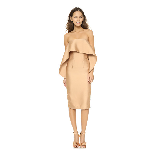 SOLACE LONDON Bridget dress - An oversized overlay accents the boned bodice of this...
