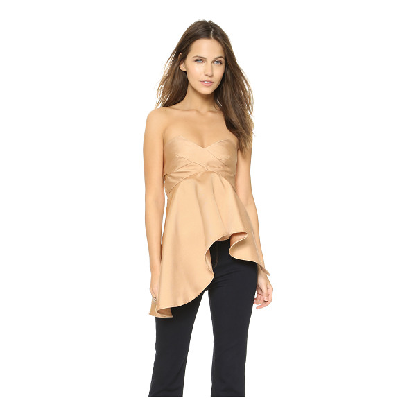 SOLACE LONDON Missy top - A draped, asymmetrical panel lends a unique look this...