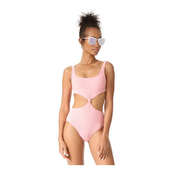 SOLID & STRIPED the bailey one piece swimsuit - A ribbed Solid & Striped one-piece swimsuit features a knot...