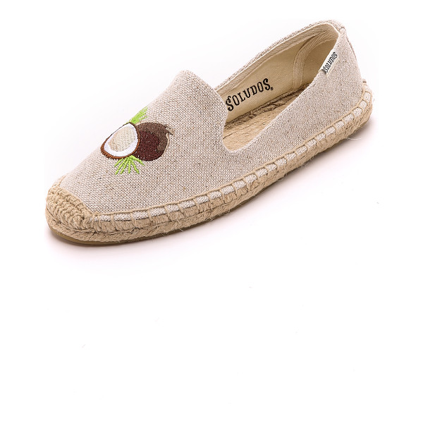 SOLUDOS Embroidered smoking slipper espadrilles - Embroidery gives these Soludos espadrilles a playful look....