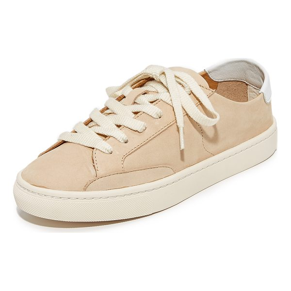 SOLUDOS ibiza classic lace up sneakers - Sporty Soludos sneakers crafted in luxe nubuck. Contrast...