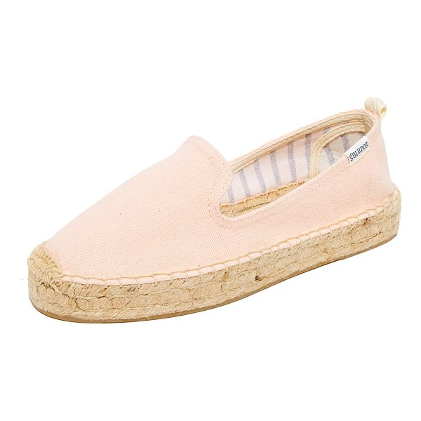 SOLUDOS platform smoking slippers - Casual Soludos espadrilles in sturdy canvas. A pull tab...