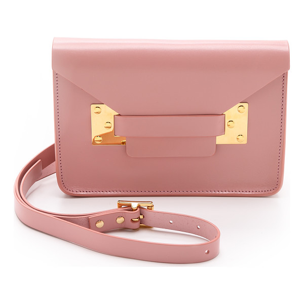 SOPHIE HULME Mini envelope bag - Rigid leather composes a scaled down Sophie Hulme shoulder