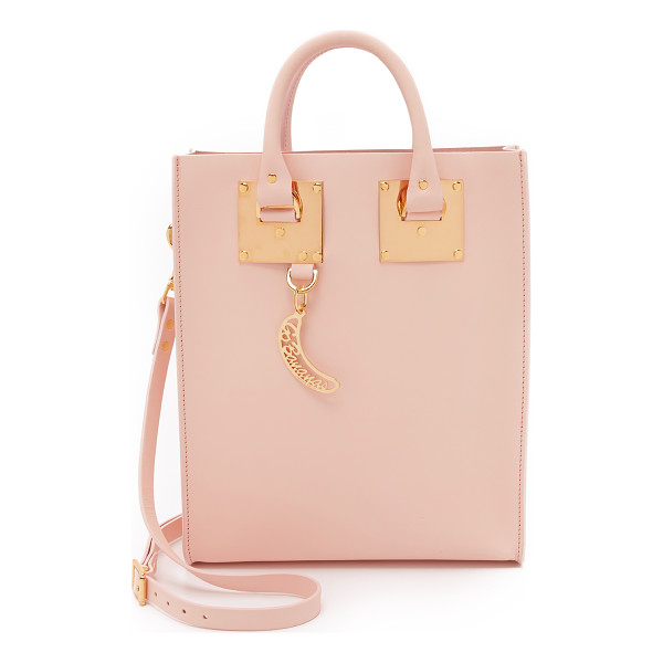 SOPHIE HULME Mini tote bag - Polished gold tone hardware adds luxe polish to a petite