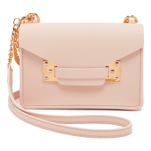 SOPHIE HULME Nano envelope bag - A scaled down Sophie Hulme bag in smooth leather. A