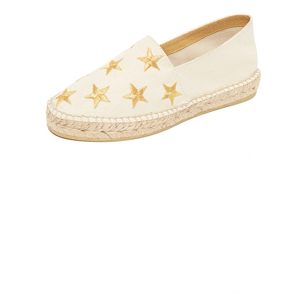 SOUTH PARADE star embroidered espadrilles - Embroidered stars accent these canvas South Parade Footwear...