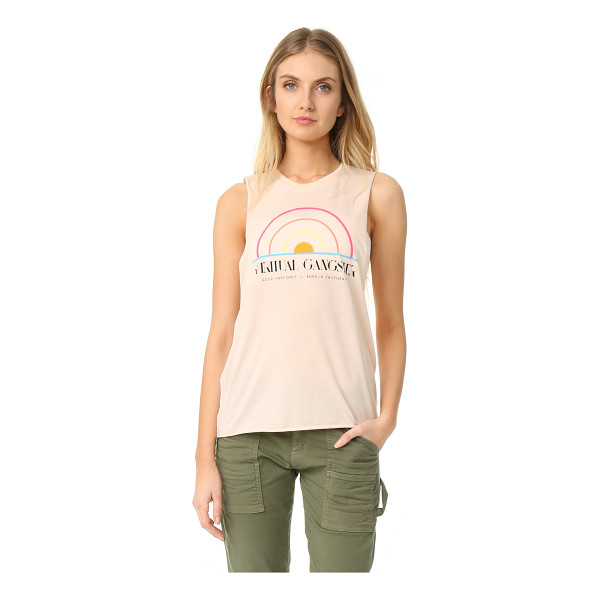 SPIRITUAL GANGSTER sg 1976 festival tank - A retro-inspired graphic accents the front of this breezy...