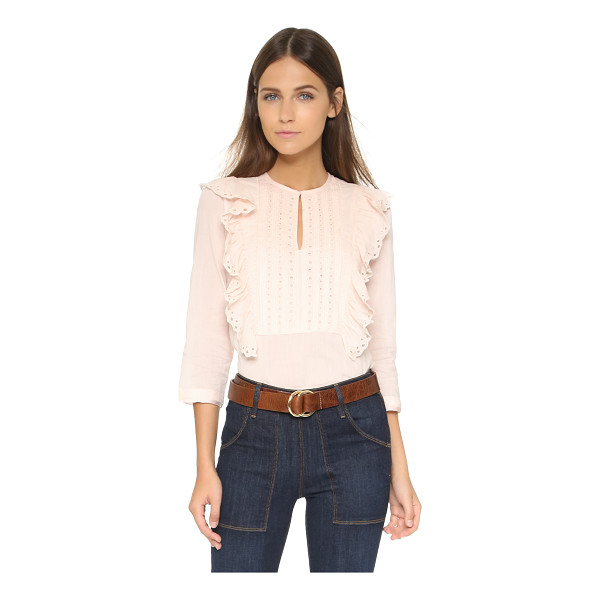 ST. ROCHE Tiffin top - A sweet St. Roche blouse styled in eyelet and detailed with...