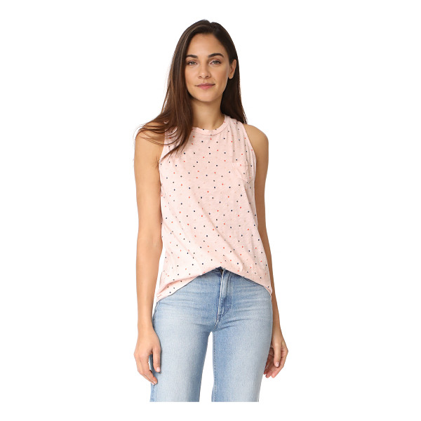 STATESIDE polka dot tank - A charming Stateside tank top with a petite patch pocket...