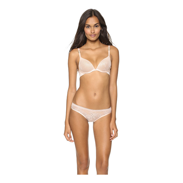 STELLA MCCARTNEY Lace plunge bra - An elegant lace bra with smooth edges and molded underwire...