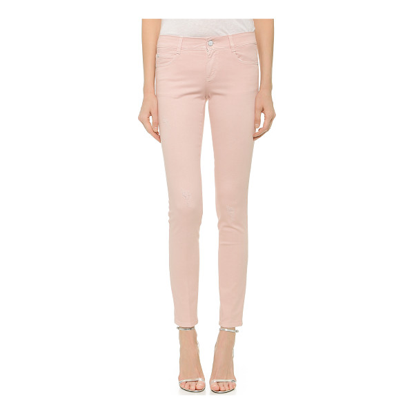 STELLA MCCARTNEY The skinny long jeans - Gently frayed spots and petite, shredded holes lend a well...