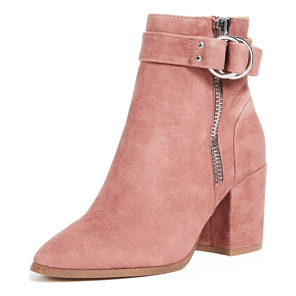 STEVEN block heel ankle boots - A covered, block heel adds a sturdy profile to these pastel...