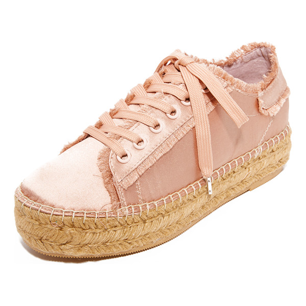 STEVEN pace espadrille sneakers - These satin Steven espadrilles are fashioned with sneaker...