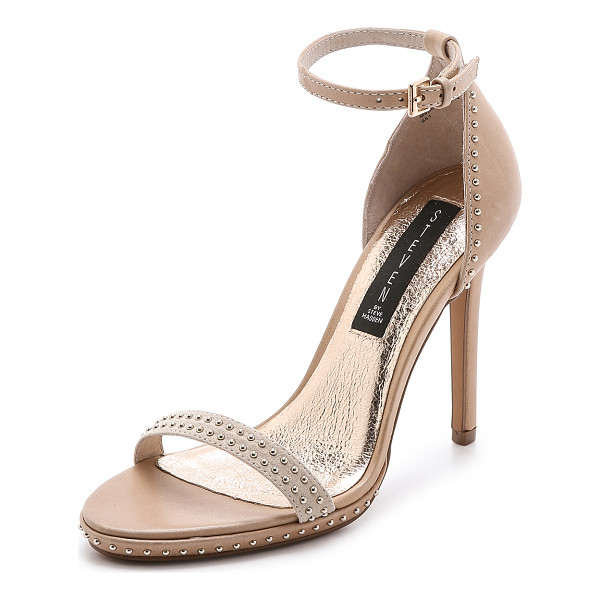 STEVEN Rogger sandals - Studs bring playful shine to these leather Steven sandals....