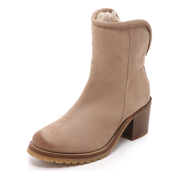 STEVEN Shearling lined booties - Shearling lining brings extra warmth to these Steven boots...