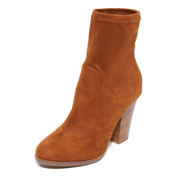 STEVEN nell booties - Versatile, faux-suede Steven booties styled with subtle...
