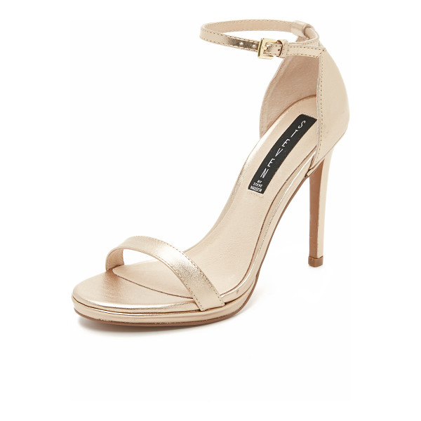 STEVEN Steven Rykie Sandals - Smooth leather Steven sandals with a slim ankle strap and...