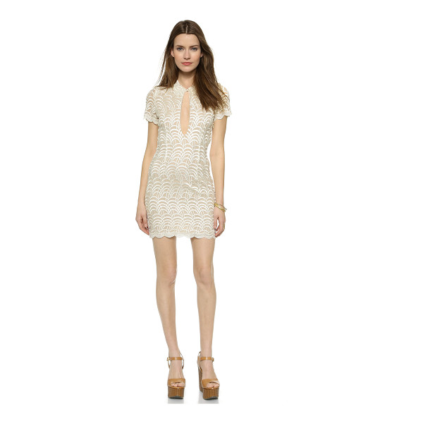 STONE COLD FOX Luke dress - A fitted Stone Cold Fox dress styled in scalloped lace. A...