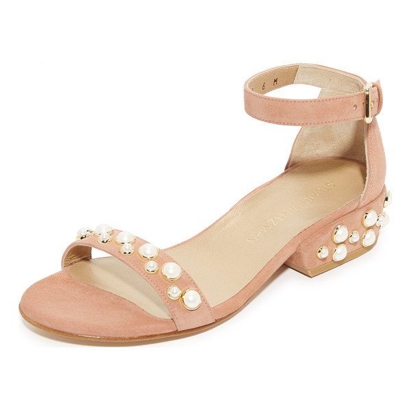 STUART WEITZMAN allpearls sandals - Imitation pearls add an elegant touch to these suede Stuart...