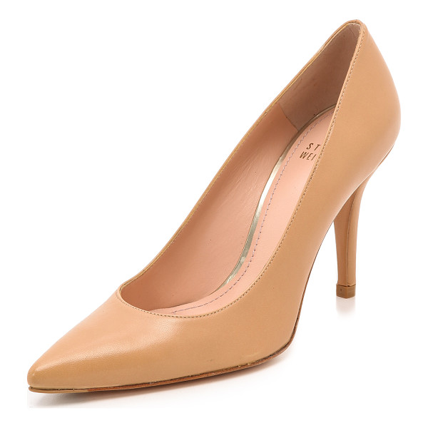 STUART WEITZMAN Daisy 90Mm Pumps - Timeless Stuart Weitzman pumps cut from smooth leather and