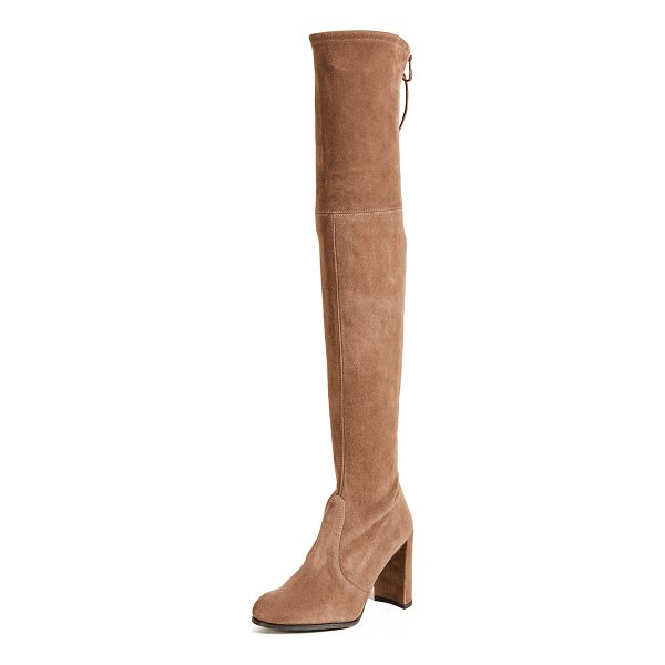 STUART WEITZMAN hiline over the knee boots - Striking Stuart Weitzman over-the-knee boots in soft suede....