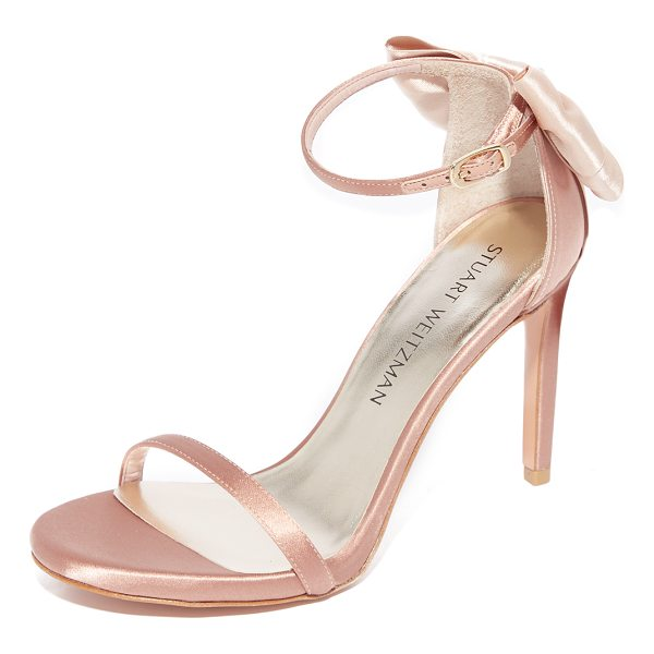 STUART WEITZMAN mybow sandals - A charming bow accents the heel of these open-toe Stuart...