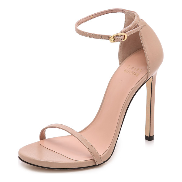 STUART WEITZMAN nudist 110mm sandals - Slim straps lend a delicate feel to classic leather Stuart...