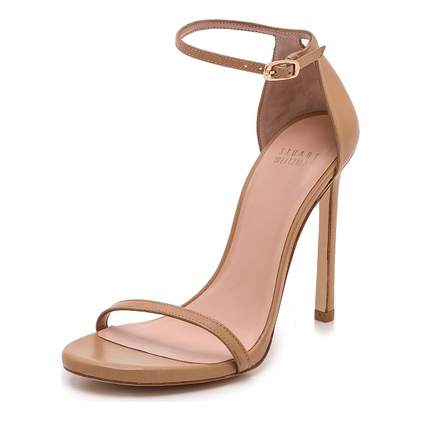 STUART WEITZMAN nudist 110mm sandals - Slim straps lend a delicate feel to leather Stuart Weitzman...