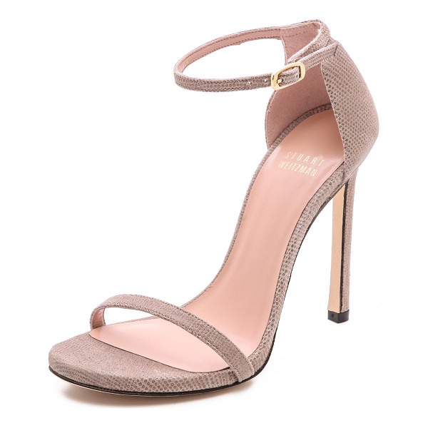 STUART WEITZMAN Nudist single band sandals - Slim straps lend a delicate feel to Stuart Weitzman...