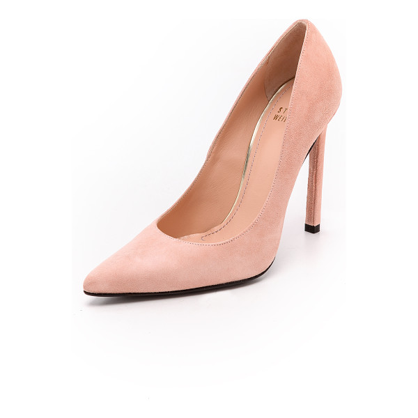 STUART WEITZMAN queen 110mm suede pumps - Ladylike Stuart Weitzman pumps cut from luxurious suede and