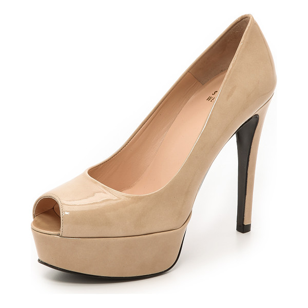 STUART WEITZMAN sadie 120mm peep toe pumps - A substantial platform and slender heel bring effortless