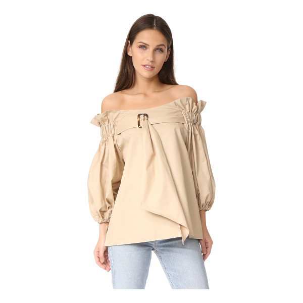 STYLE MAFIA belted blouse - A crisp cotton Style Mafia blouse, styled with gathered...