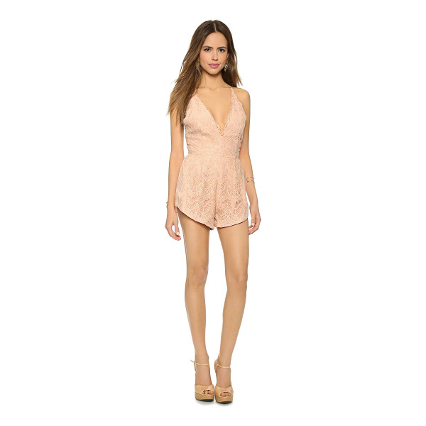 STYLE STALKER Mermaid lace romper - A patterned lace STYLESTALKER romper, designed with a...