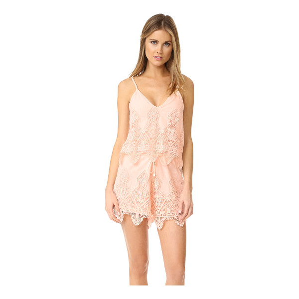 SUBOO prairie romper - This lightweight Suboo cover-up romper is detailed with