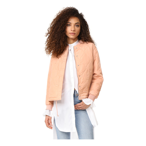 SUNCOO elfy bomber jacket - A lightly padded Suncoo bomber jacket in a quilted weave. A...