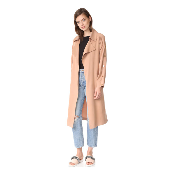 SUNCOO erik trench coat - An elegant Suncoo trench coat with a soft hand and slinky...