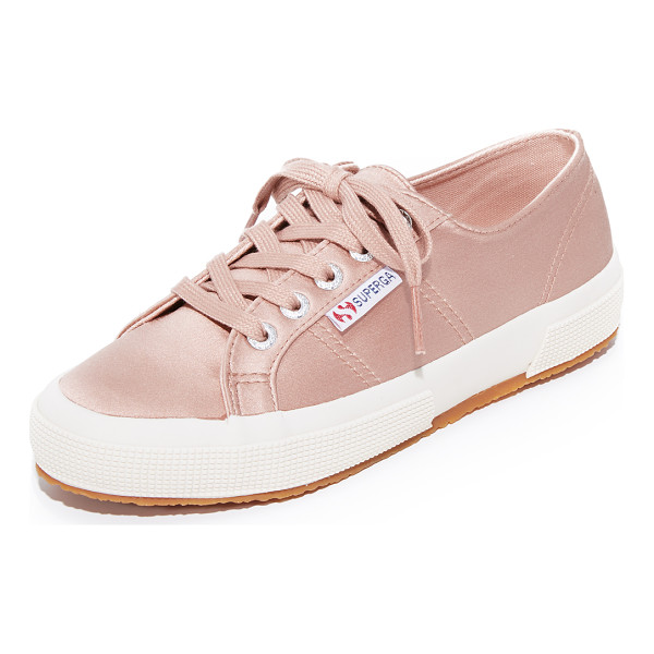 SUPERGA 2750 satin classic sneakers - Classic Superga low-top sneakers updated in luxe satin....