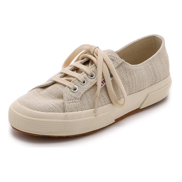 SUPERGA Cotu metallic linen sneakers - Metallic threads lend a subtle update to these Superga...