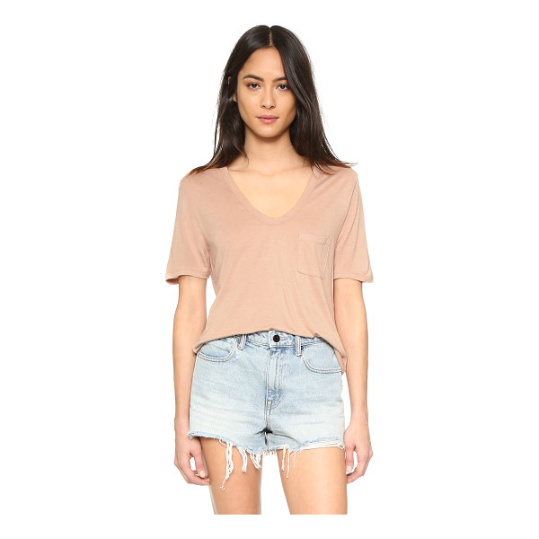 T BY ALEXANDER WANG Classic cropped tee - A T by Alexander Wang cropped tee, styled with a deep U...