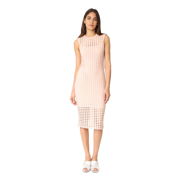 T BY ALEXANDER WANG fitted tank dress - Dropped stitches create a hole-punch effect on this...