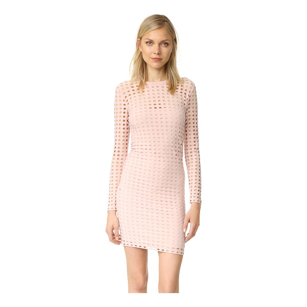 T BY ALEXANDER WANG jersey jacquard fitted dress - A formfitting T by Alexander Wang dress, composed of...