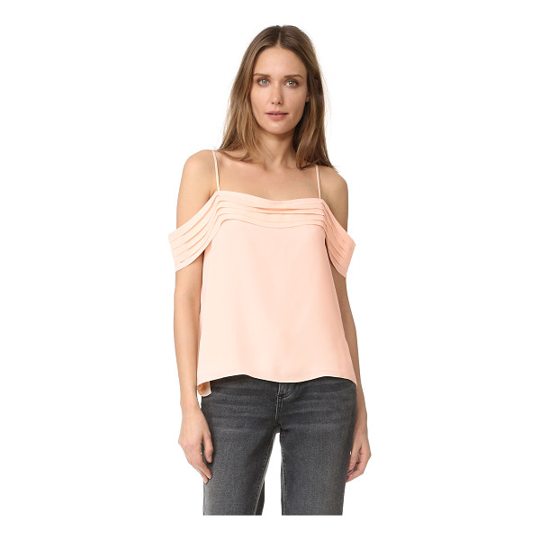 T BY ALEXANDER WANG pleated off shoulder silk top - An airy crepe T by Alexander Wang blouse with a pleated...